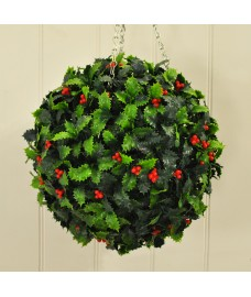 Holly Berry Artificial Topiary Ball by Gardman