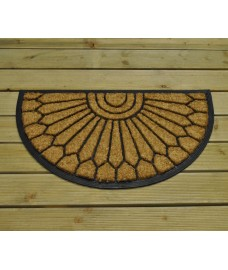 Westminster Design Semi Circular Rubber Backed Coir Doormat by Gardman