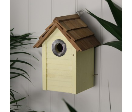 Yellow Beach Hut Bird Nest Box by Gardman