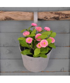 Round Zinc Metal Balcony Hanging Pot Planter by Fallen Fruits