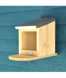Wood & Zinc Roof Squirrel Feeder by Fallen Fruits