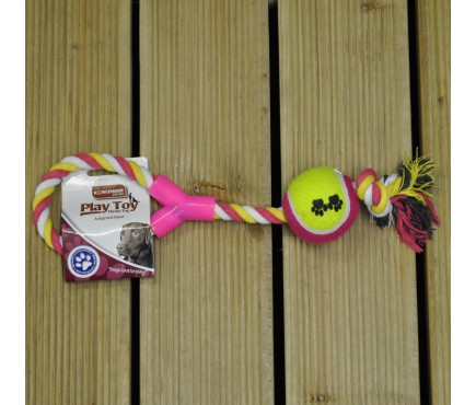 Rope Tug & Ball Dog Toy by Kingfisher