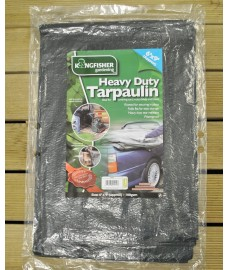 Heavy Duty Tarpaulin (275cm x 180cm) by Kingfisher