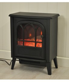 1800 Watt Cast Iron Effect Electric Stove Heater by Kingfisher