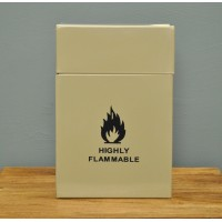 Enamel Metal Firelighter Storage Box in Clay by Garden Trading