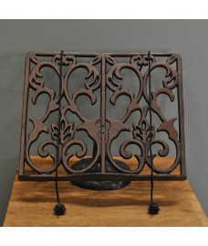 Cast Iron Cookbook Stand Recipe Holder by Fallen Fruits