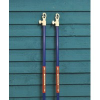 2 x 2.4m Telescopic Retractable Clothes Line Prop by Kingfisher
