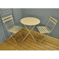 Rive Droite Metal Garden Bistro Set in Clay by Garden Trading