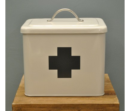 First Aid Box in Chalk White by Garden Trading