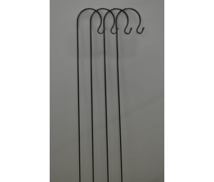 4 x Black Border Garden Shepherds Crook Hooks (1.2m)