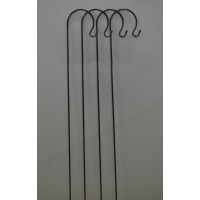 4 x Black Metal Border Hooks (1m)