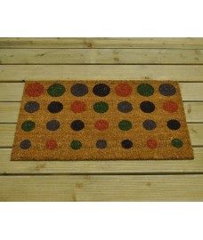 Spotty Design Coir Doormat by Gardman