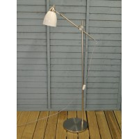 Shoreditch White Porcelain Floor Light by Garden Trading