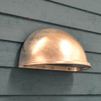 Galvanised St Ives Eye Down Wall Light (Mains) by Garden Trading