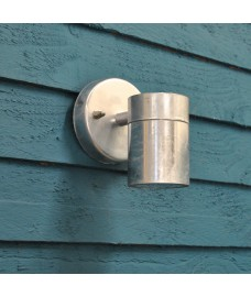 Galvanised St Ives Down Wall Light (Mains) by Garden Trading