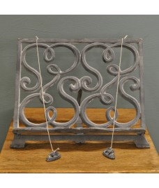 Cast Iron Cookbook Stand Recipe Holder - Grey by Fallen Fruits