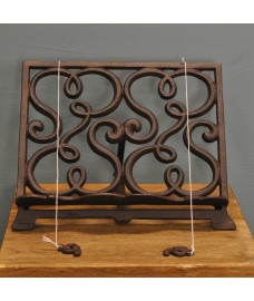 Cast Iron Cookbook Recipe Stand - Light Brown by Fallen Fruits