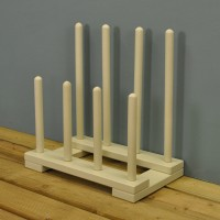 Cream Wooden Boot & Shoe Rack by Fallen Fruits