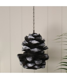 Cast Iron Pine Cone Effect Bird Feeder by Fallen Fruits