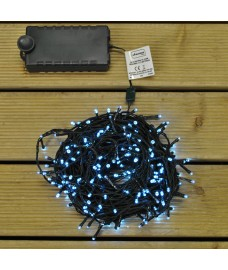 280 LED Multi-Action White String Lights (Battery) by Kingfisher