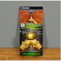 Brass 2 Way Y Garden Tap Connector Manifold by Darlac