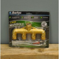 Brass 4 Way Garden Tap Connector Manifold by Darlac