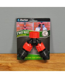 Plastic 2 Way Garden Tap Manifold by Darlac