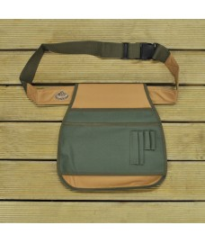 Garden Tool Belt in Green & Brown