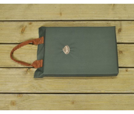 Garden Kneeler Mat in Olive Green by Fallen Fruits