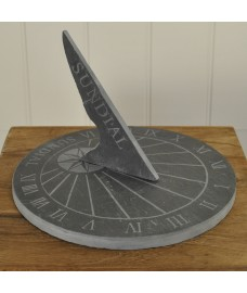Large Round Slate Garden Sundial by Fallen Fruits
