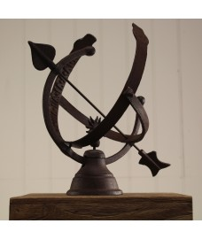 Armillary Cast Iron Sundial by Fallen Fruits