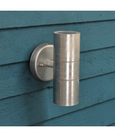 Galvanised St Ives Up & Down Wall Light (Mains) by Garden Trading