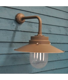 Belfast Wall Light in Coffee Bean (Mains) by Garden Trading