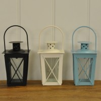 Hudson Tealight Candle Lanterns (Set of 3) by Gardman