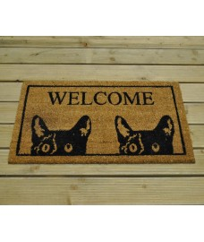 Tom Cat  Welcome Coir Doormat by Gardman