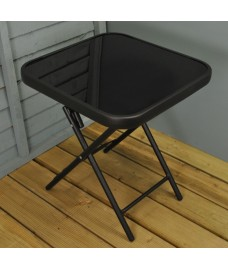 Folding Drinks Side Garden Patio Table by Kingfisher