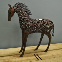 Silhouette Horse Light Garden Sculpture (Solar) by Smart Garden