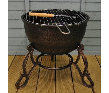 Elidir Cast Iron Outdoor Fire Bowl & BBQ Grill by Gardeco