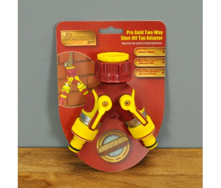 Plastic 2 Way Garden Tap Manifold by Kingfisher