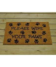 Wipe Your Paws Coir Doormat by Gardman