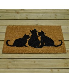 Three Cats Design Coir Doormat by Gardman