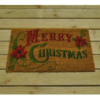 Traditional Merry Christmas Coir Doormat by Gardman