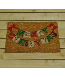 Merry Christmas Swag Coir Doormat by Gardman