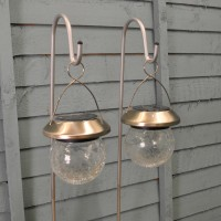 Hanging Crackle Globe with Hook Pack of 2 (Solar) by Smart Solar