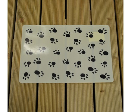Paw Print Dog Bowl Mat by Gardman
