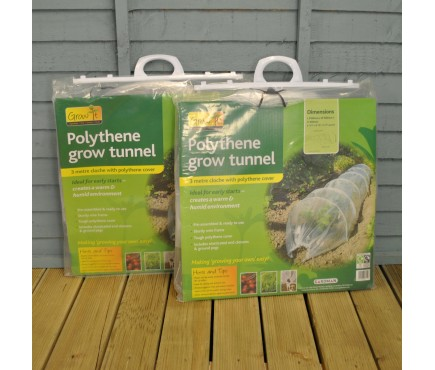 Clear Polythene Grow Tunnel Cloche (Pack of 2) by Gardman