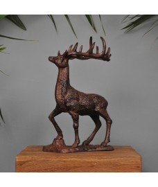 Decorative Cast Iron Large Stag Ornament Statuette by Fallen Fruits