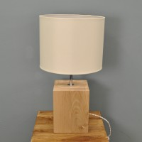 Megeve Wooden Table Lamp by Garden Trading