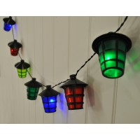 40 LED Multi-Coloured Lantern String Lights (Mains)