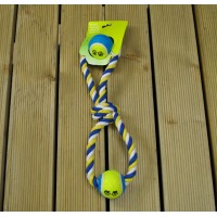 Ball and Rope, Chew and Throw Dog Toy by Gardman